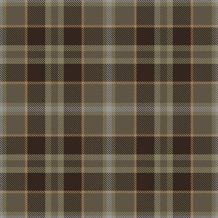 Brown, Beige, Orange  and  Gray Tartan  Plaid  Seamless Pattern Background. Flannel  Shirt Tartan Patterns. Trendy Tiles Vector Illustration for Wallpapers. Çizim