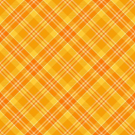 Orange and  White    Tartan  Plaid  Seamless Pattern Background. Flannel  Shirt Tartan Patterns. Trendy Tiles Vector Illustration for Wallpapers.