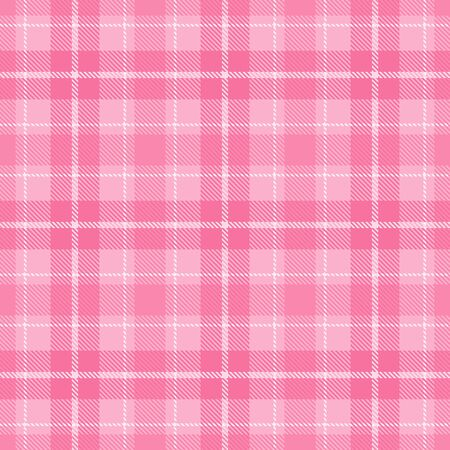 Pink and  White    Tartan  Plaid  Seamless Pattern Background. Flannel  Shirt Tartan Patterns. Trendy Tiles Vector Illustration for Wallpapers.