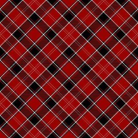 Black, Red and  White  Tartan  Plaid  Seamless Pattern Background. Flannel  Shirt Tartan Patterns. Trendy Tiles Vector Illustration for Wallpapers.