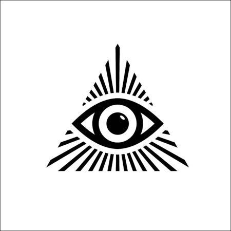 Tout le symbole de l'œil voyant. Illustration vectorielle
