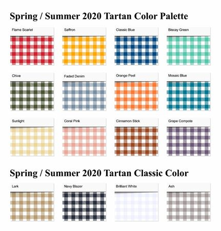 Spring  Summer 2020 Tartan  Seamless Pattern  Palette Example. Future Plaid  Color Trend Tiles Forecast.   Vector Illustration for Wallpapers. 일러스트