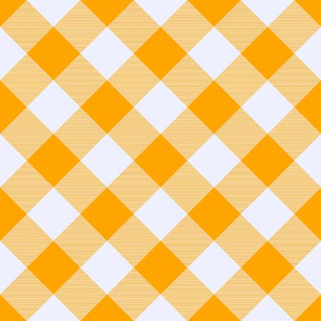 Saffron and  White    Tartan  Plaid  Seamless Pattern. Flannel  Shirt Tartan Patterns. Trendy Tiles Vector Illustration for Wallpapers.