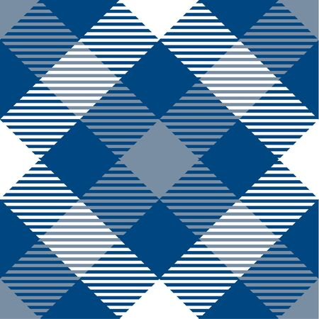 Classic Blue and White Tartan  Plaid  Seamless Pattern. Flannel  Shirt Tartan Patterns. Trendy Tiles Vector Illustration for Wallpapers.