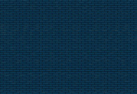 Blue  brick wall texture.  Seamless pattern vector illustration. Standard-Bild - 141604246