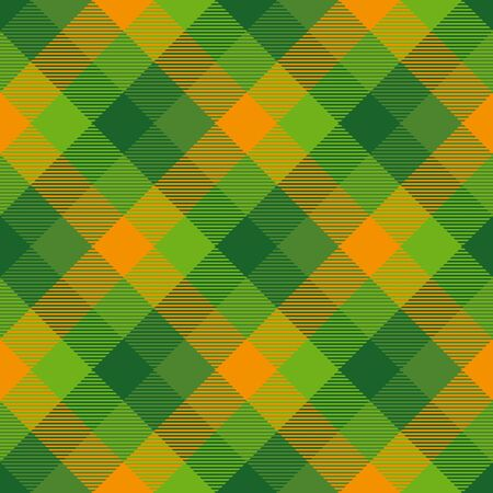 Tartan  Seamless Pattern  Background to St. Patrick's Day. Vector Illustration