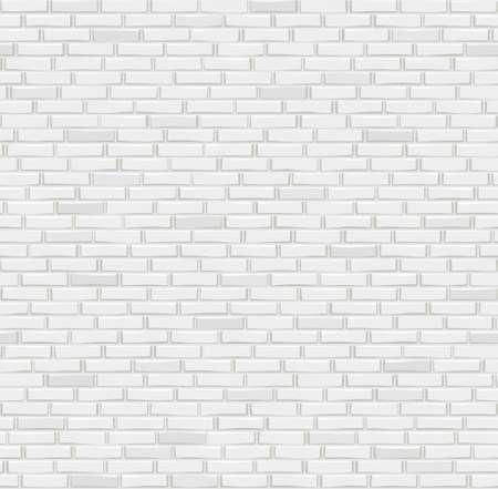 Gray brick wall texture. Seamless pattern vector illustration.