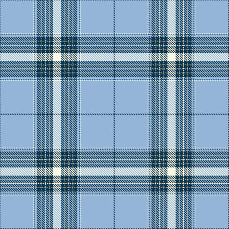 Tartan Seamless Pattern Background in Blue and White Color Plaid. Flannel Shirt Patterns. Trendy Tiles Vector Illustration for Wallpapers.