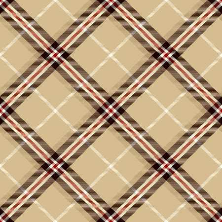Tartan Seamless Pattern Background in Black, Beige, Red and White Color Plaid. Flannel Shirt Patterns. Trendy Tiles Vector Illustration for Wallpapers.