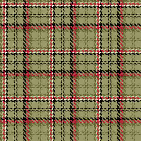 Tartan Seamless Pattern Background in Black, Green, Red and White Color Plaid. Flannel Shirt Patterns. Trendy Tiles Vector Illustration for Wallpapers.