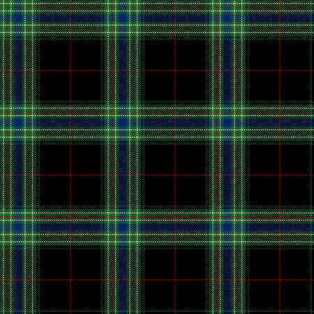 Tartan Seamless Pattern Background in Black, Green, Red, Blue and White Color Plaid. Flannel Shirt Patterns. Trendy Tiles Vector Illustration for Wallpapers.