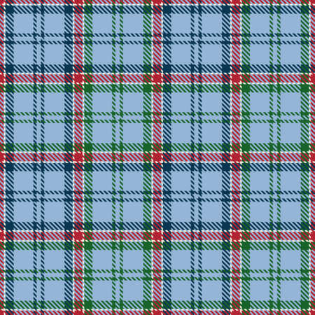 Tartan Seamless Pattern Background in Blue, Green, Red and White Color Plaid. Flannel Shirt Patterns. Trendy Tiles Vector Illustration for Wallpapers.