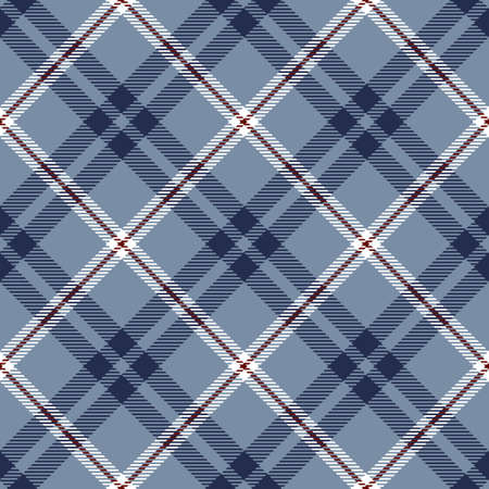 Tartan Seamless Pattern Background in Blue, Red and White Color Plaid. Flannel Shirt Patterns. Trendy Tiles Vector Illustration for Wallpapers. Illustration