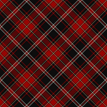 Tartan Seamless Pattern Background in Black, Red, Gold and White Color Plaid. Flannel Shirt Patterns. Trendy Tiles Vector Illustration for Wallpapers. Illustration