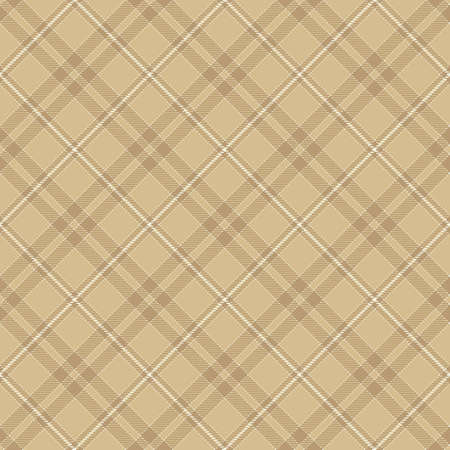 Tartan Seamless Pattern Background in Camel Beige, Beige and White Color Plaid. Flannel Shirt Patterns. Trendy Tiles Vector Illustration for Wallpapers. Illustration