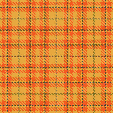 Autumn Tartan Seamless Pattern Background. Fall Color Panel Plaid, Tartan Flannel Shirt Patterns. Trendy Tiles Vector Illustration for Wallpapers.