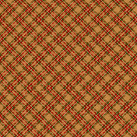 Tartan Seamless Pattern Background in Beige, Red and Green Color Plaid. Flannel Shirt Patterns. Trendy Tiles Vector Illustration for Wallpapers. Illustration