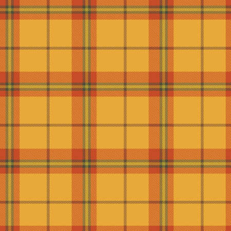 Autumn Tartan Seamless Pattern Background. Fall Color Panel Plaid, Tartan Flannel Shirt Patterns. Trendy Tiles Vector Illustration for Wallpapers. Banque d'images - 154635428