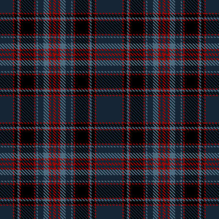 Tartan Seamless Pattern Background in Black, Blue and Red Color Plaid. Flannel Shirt Patterns. Trendy Tiles Vector Illustration for Wallpapers.