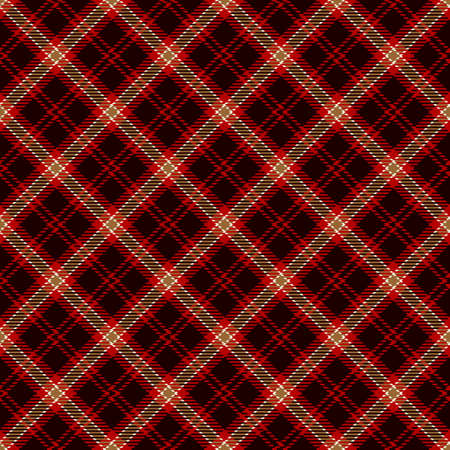 Tartan Seamless Pattern Background in Black, Gold, Red and White Color Plaid. Flannel Shirt Patterns. Trendy Tiles Vector Illustration for Wallpapers. Illustration