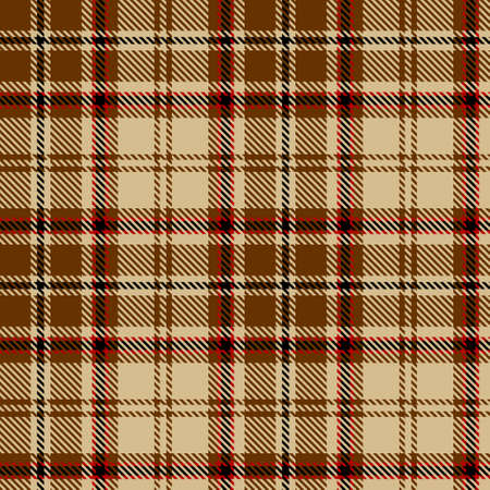 Tartan Seamless Pattern Background in Black, Brown, Red and Beige Color Plaid. Flannel Shirt Patterns. Trendy Tiles Vector Illustration for Wallpapers.