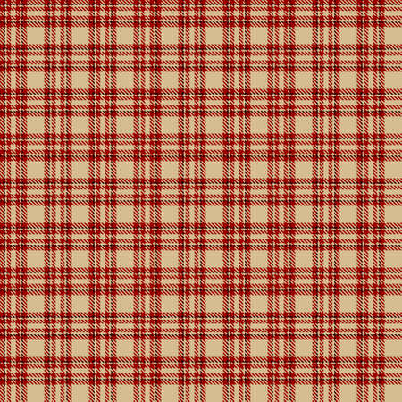 Tartan Seamless Pattern Background in Black, Red and Camel Beige Color Plaid. Flannel Shirt Patterns. Trendy Tiles Vector Illustration for Wallpapers. Illustration