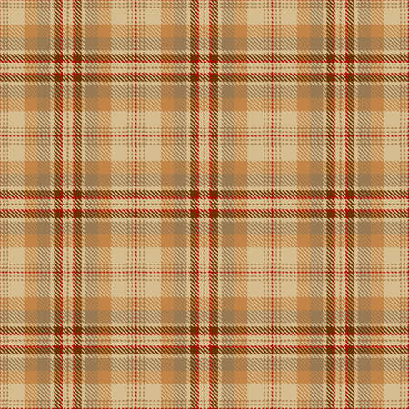 Tartan Seamless Pattern Background in Camel Beige, Brown and Red Color Plaid. Flannel Shirt Patterns. Trendy Tiles Vector Illustration for Wallpapers.