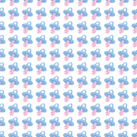 Seamless baby background for use in design, web site, packing, textile, fabric.  Babys dummy pattern. Stock Photo