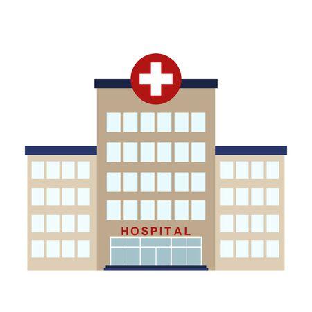 Hospital icon isolated on white background, Vector illustration