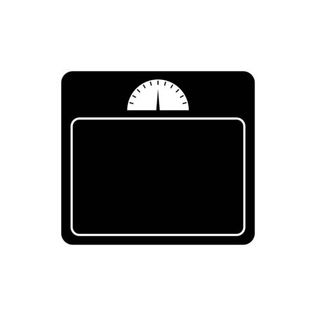 Floor scales icon isolated on white background, Vector illustration Ilustração