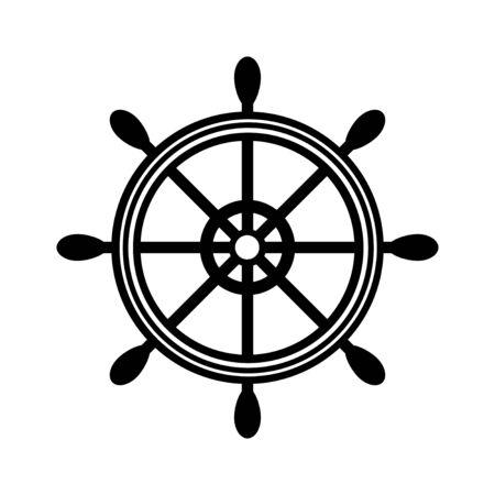 Marine helm icon isolated on white background. Vector illustration Vecteurs