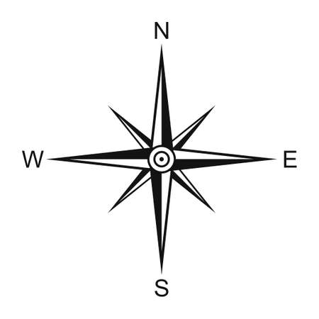 Wind rose isolated on white background. Compass vector illustration Vecteurs