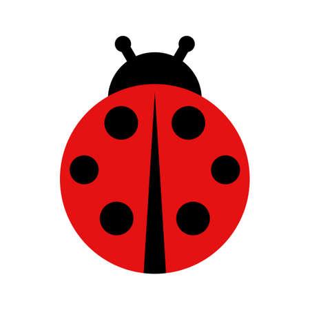 Ladybug icon isolated on white background. Vector illustration
