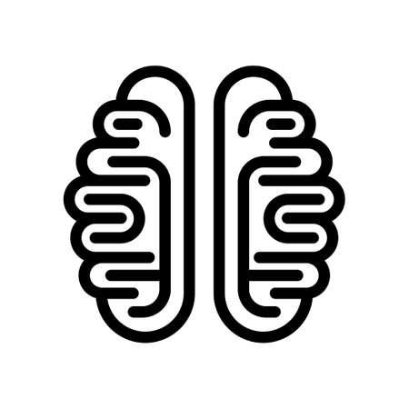 Brain icon isolated on white background. Vector illustration Stock Illustratie