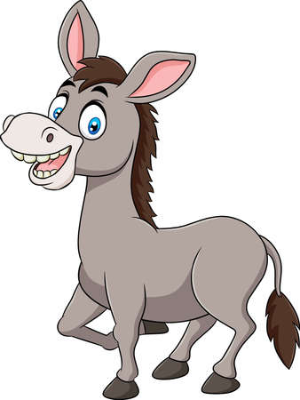 Cute Donkey animal cartoon illustration