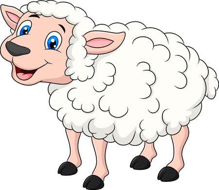 Cute Sheep animal cartoon illustration