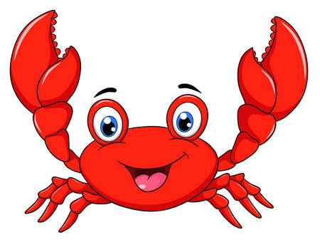 Cute Happy Crab cartoon illustration