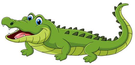 Cute Crocodile animal cartoon vector illustration