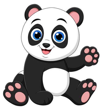 Cute Panda cartoon animal vector illustration
