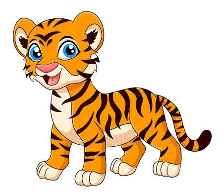 Cute Tiger animal cartoon vector illustration