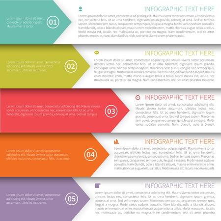 Modèle minimaliste multicolore Infographie Moderne
