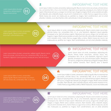 Modern Template Minimalistische Multicolor Infographics