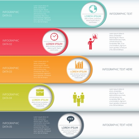 origami numbers: Modern business infographics options banner illustration.
