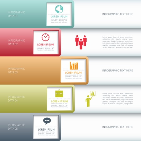 version: Modern business infographics options banner. Vector illustration