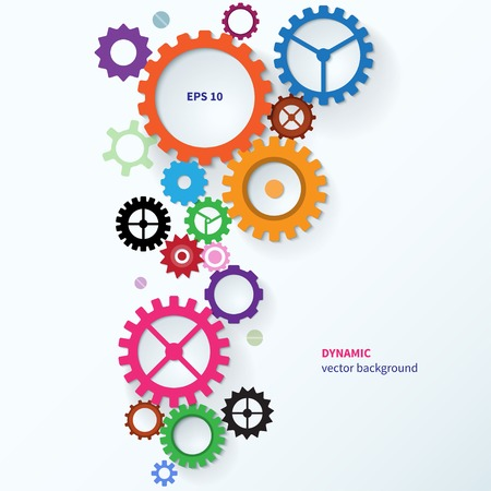 Modern vector abstract colorful industrial gear background Vector