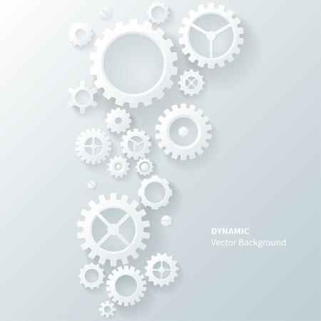 モダンな抽象工業用ギヤの背景  イラスト・ベクター素材