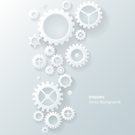 cogs: Modern abstract industrial gear background