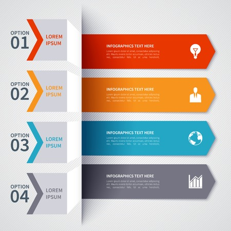 bar graph: Modern minimalistic infographics banner Illustration