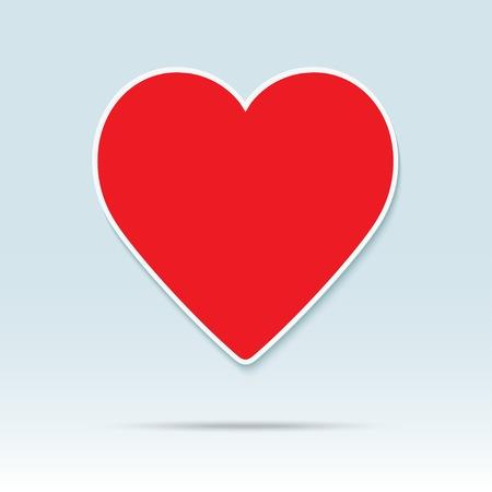 Rood hart pictogram