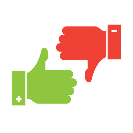 thumb up and thumb down icons Illustration